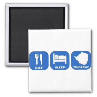 Eat Sleep Zimbabwe Refrigerator Magnet