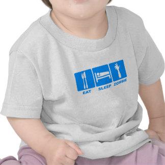 Eat Sleep Zombie T Shirts