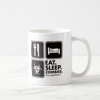 Eat Sleep Zombies - Black Coffee Mug