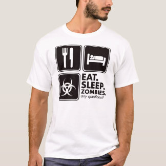 Eat Sleep Zombies - Black T-Shirt