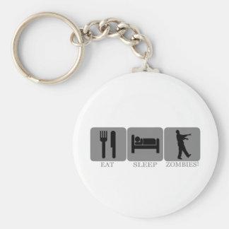 Eat Sleep Zombies Keychain