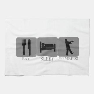 Eat Sleep Zombies Kitchen Towel