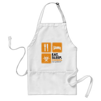 Eat Sleep Zombies - Orange Adult Apron