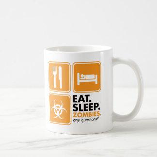 Eat Sleep Zombies - Orange Coffee Mug
