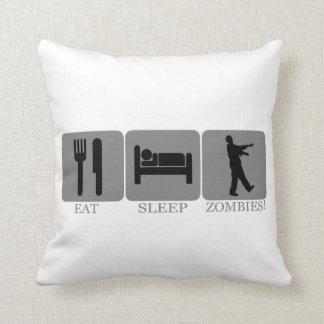 Eat Sleep Zombies Pillows