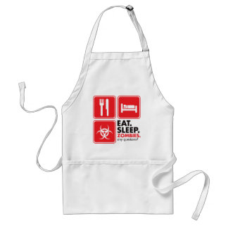 Eat Sleep Zombies - Red Adult Apron