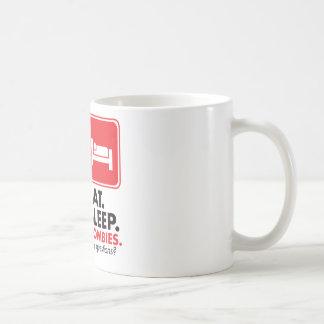 Eat Sleep Zombies - Red Coffee Mug
