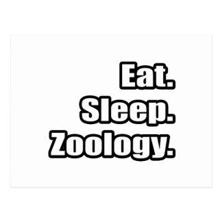 Eat. Sleep. Zoology. Postcard