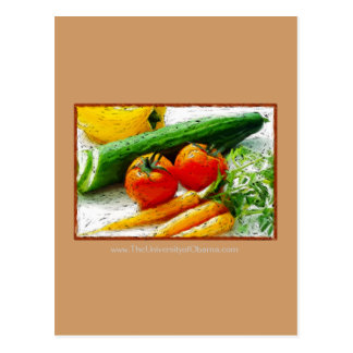 Eat Smart | Eat healthy | I love Veggies Postcard