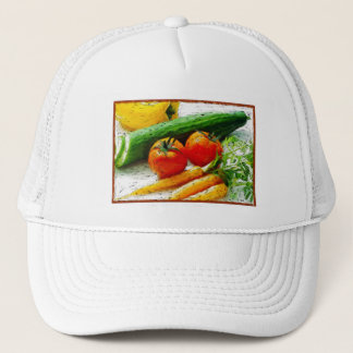 Eat Smart | Eat healthy | I love Veggies Trucker Hat