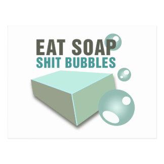 Eat Soap Shit Bubbles Wackiest Funny Postcard
