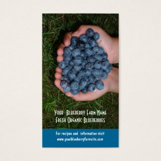 Eat Some  Blueberries! Fresh Fruits Business Card