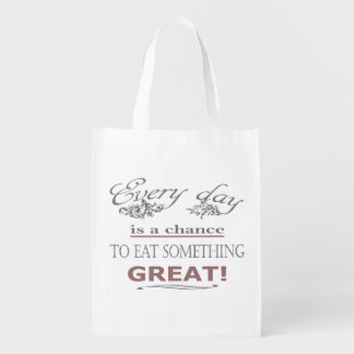 Eat Something Great Reusable Grocery Bag