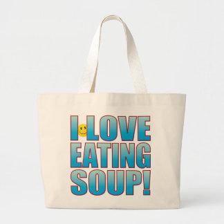 Eat Soup Life B Large Tote Bag