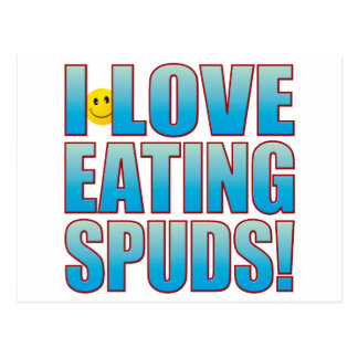 Eat Spuds Life B Postcard