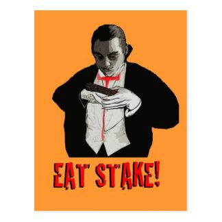 Eat Stake Vampire Notecard Postcard