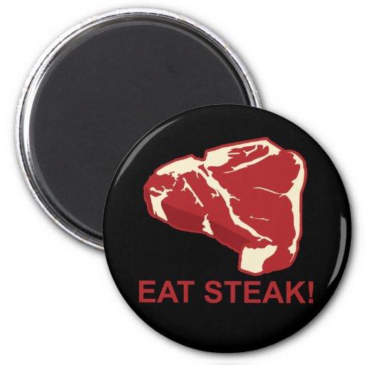 Eat STeak 2 Inch Round Magnet