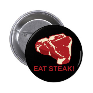 Eat STeak Pinback Button