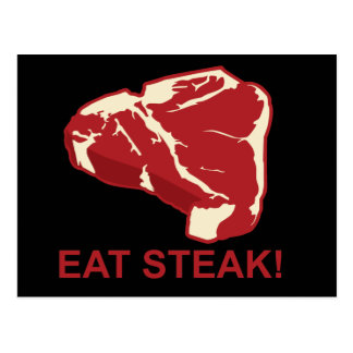 Eat STeak Postcard