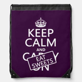 Eat Sweets Drawstring Bags