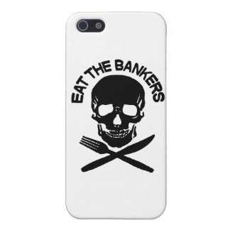 eat the bankers Skull and Bones Cover For iPhone 5