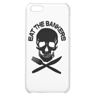 eat the bankers Skull and Bones Cover For iPhone 5C
