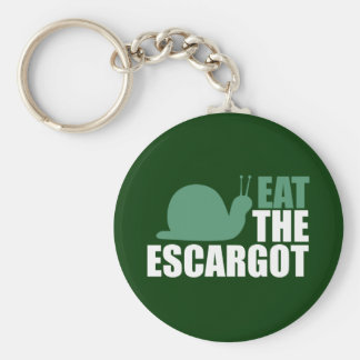 Eat the Escargot Land Snail Delicacy Keychain