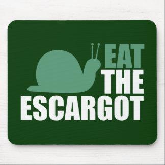 Eat the Escargot Land Snail Delicacy Mouse Pad