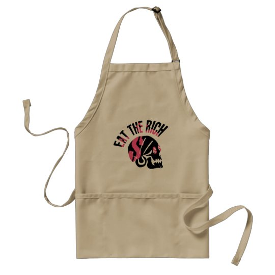 Eat the Rich Adult Apron