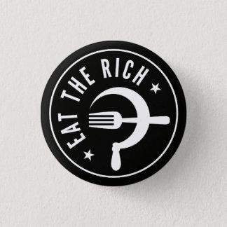Eat the Rich Hammer & Sickle Button