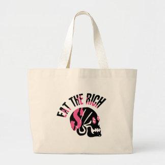 Eat the Rich Jumbo Tote Bag
