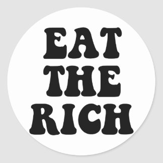 Eat The Rich Occupy Wall Street Classic Round Sticker