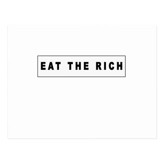 eat the rich tshirts MK.png Postcard
