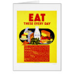 Eat These Every Day 1942 WPA Card