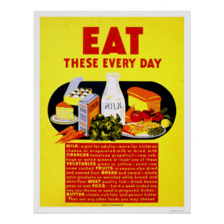 good eat these every day wpa poster with poster cuisine. Black Bedroom Furniture Sets. Home Design Ideas