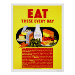 Eat These Every Day 1942 WPA Print