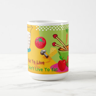 Eat To Live Diet and Weight Loss Classic White Coffee Mug