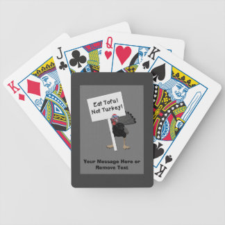 Eat Tofu! Not Turkey! Funny Angry Turkey Bicycle Playing Cards