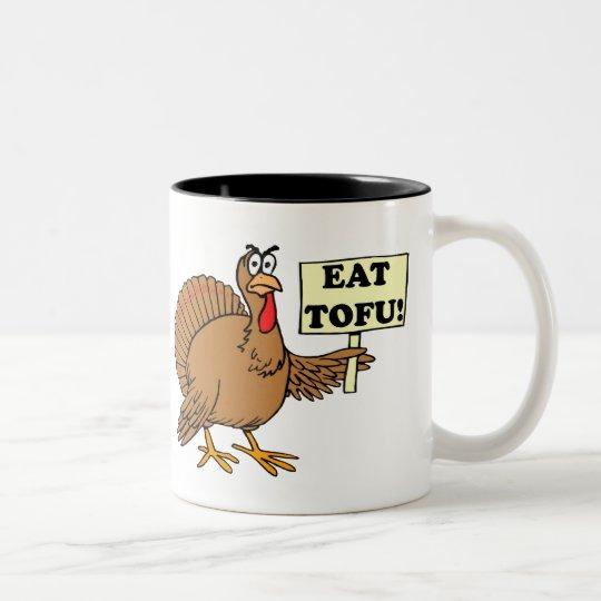 Eat Tofu Two-Tone Coffee Mug