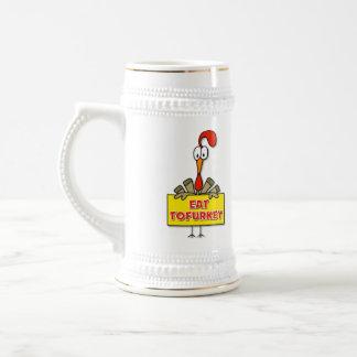 Eat Tofurkey Thanksgiving Gift Beer Stein