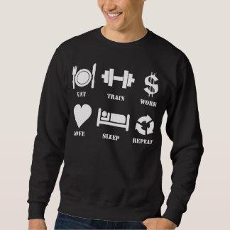 Eat, Train, Work, Love, Sleep, Repeat Sweatshirt