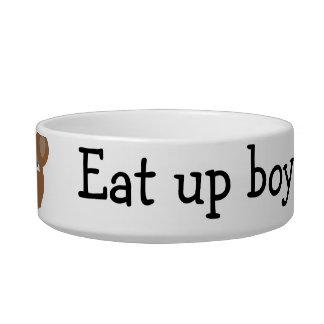 eat up boy pet bowl