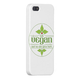 Eat Vegan and No One Gets Hurt Cover For iPhone SE/5/5s