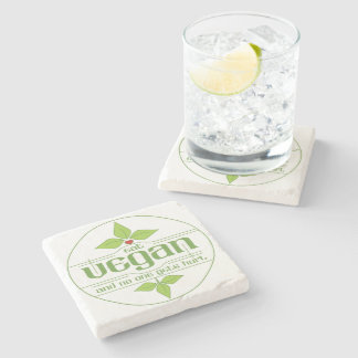 Eat Vegan and No One Gets Hurt Stone Coaster