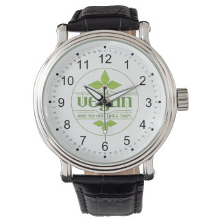 Eat Vegan and No One Gets Hurt Wristwatch