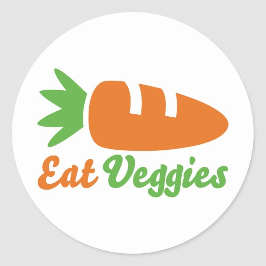 Eat Veggies Classic Round Sticker