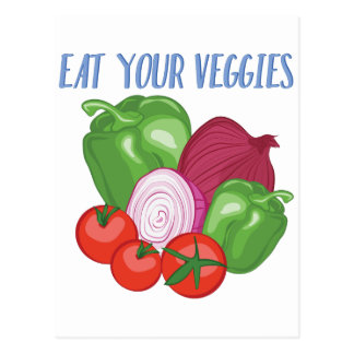 Eat Veggies Postcard