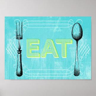 EAT Vintage Poster