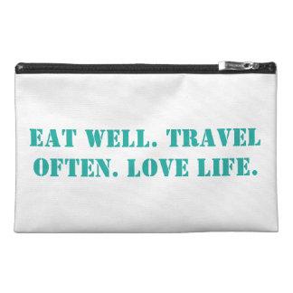 Eat wave. Travel often. Love life. Bag