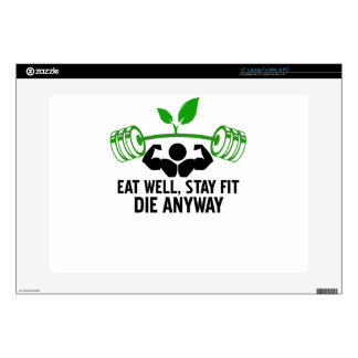 "eat well decal for 15"" laptop"